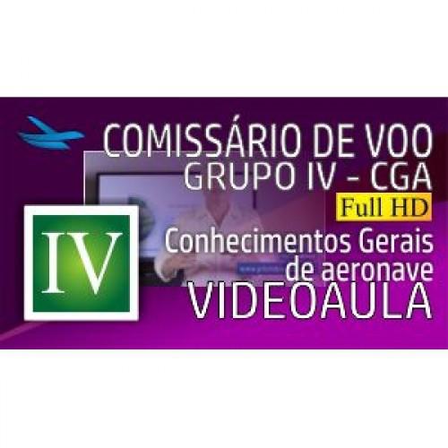Videoaula Comissário de Voo - Grupo IV - CGA