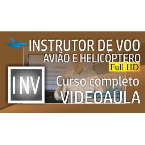 Videoaula Instrutor de Voo de Avião e Helicóptero