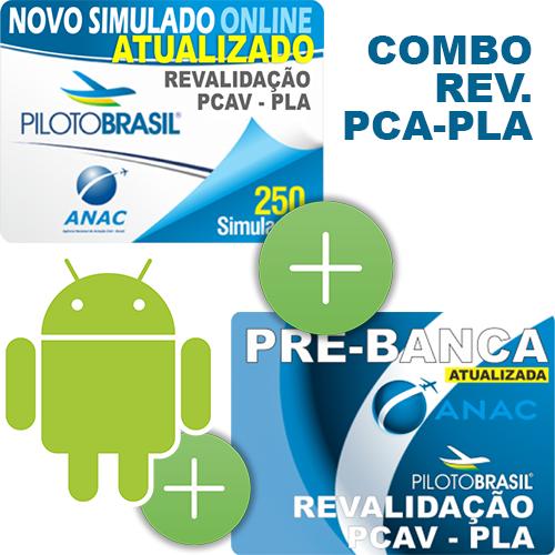 Combo 3 em 1 - Revalidação PCA - PLA - Android