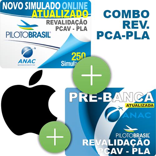 Combo 3 em 1 - Revalidação PCA - PLA - iOS